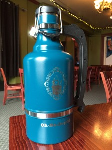 Teal 128 oz Drink Tank growler. The picture does not do it justice, you need to come in to check out the color